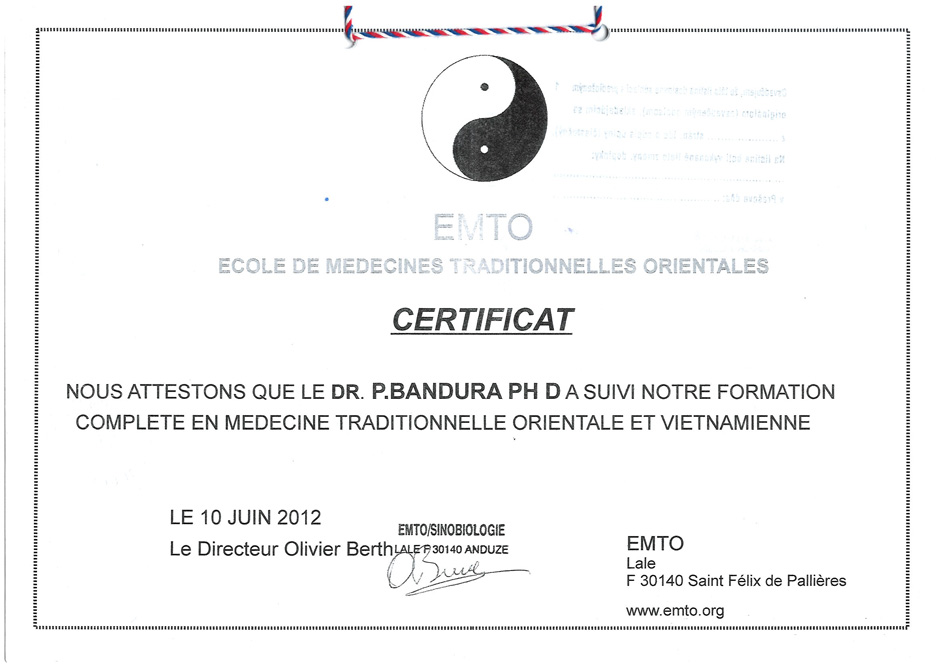 EMTO certifikát vietnamská medicína